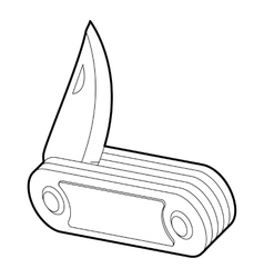 Penknife icon isometric 3d style vector