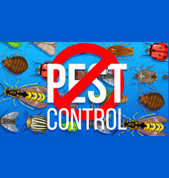 Pest control disinsection service poster vector
