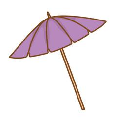 Purple umbrella cartoon flat style vector