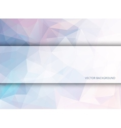 Rectangle banner on polygonal background vector