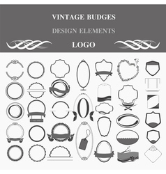 Retro badges design logo Template vector image