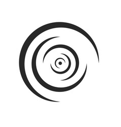 Rounded lines ripples liquid logo diverge vector