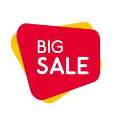sale banner template design red modern label for vector image