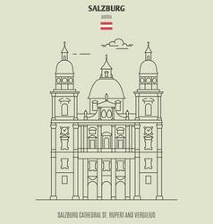 salzburg cathedral st rupert and vergilius vector image