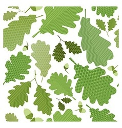 Seamless green foliage vector