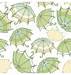 Seamless pattern with decorative umbrellas vector image
