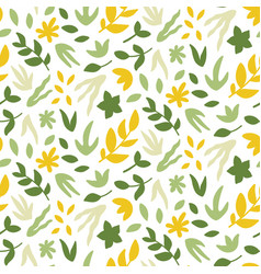 seamless pattern with leaves bright spring print vector image