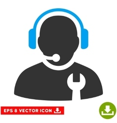 Service Operator Eps Icon vector