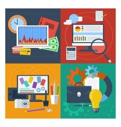 Set of concept for finance marketing web design vector
