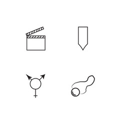 Sex icons set vector