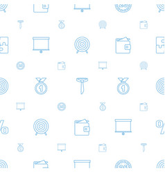 Success icons pattern seamless white background vector