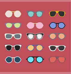 Sunglasses collection colorful vector
