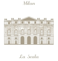 Teatro alla Scala in Milan vector