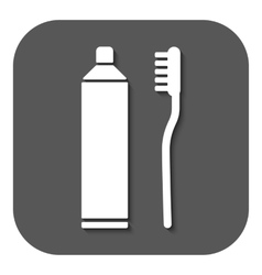 The toothpaste and toothbrush icon Bathroom vector image