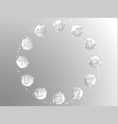 zodiac circle on a white background vector image