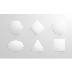 Abstract geometric shapes white papers label vector image