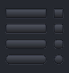 black buttons on black background vector image