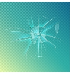 Mirror or broken glass cracked shattered window vector image