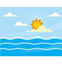 bg sea vector image
