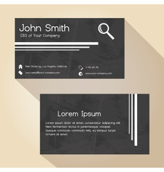 black and white grunge paper simple business card vector image