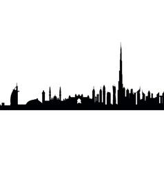 Dubai Skyline vector image vector image