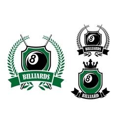 Eight ball billiards or pool emblem vector image