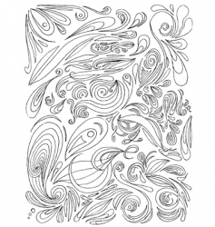 paisley doodles vector image vector image