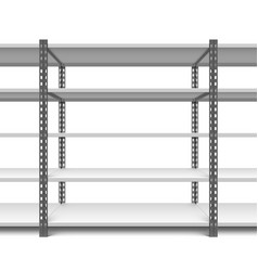 storage shelves vector image vector image