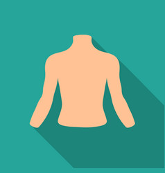chest icon in flat style isolated on white vector image