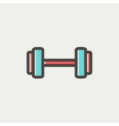 Dumbbell thin line icon vector image