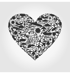 Heart the weapon vector image vector image