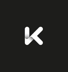 letter k logo capital initial monogram vector image vector image