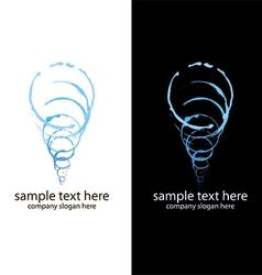 logo handmade spiral brush vector image