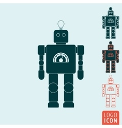 Robot icon isolated vector image vector image