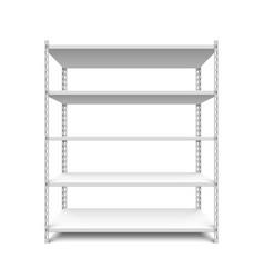 empty storage shelf vector image vector image