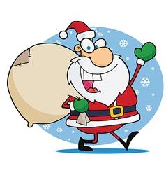 Santa Waving vector image vector image