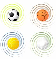 twisted sport balls vector image