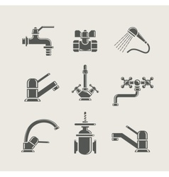 water-supply faucet mixer vector image vector image