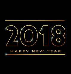 2018 happy new year banner khokhloma vector image