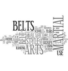 A close look at belts text word cloud concept vector