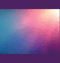 Abstract geometric pink blue background vector