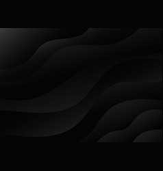 abstract modern black dynamic wave layer vector image
