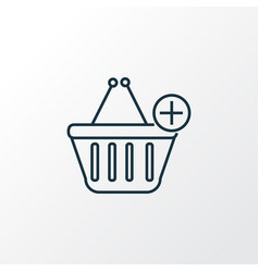 add to cart icon line symbol premium quality vector image