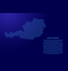 austria map abstract schematic from blue ones vector image