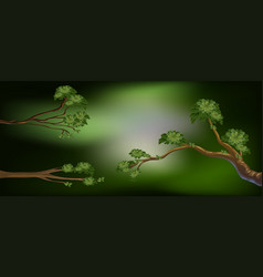 Background design with three branches vector