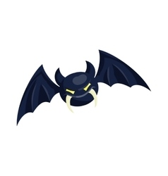 Bat icon in cartoon style vector image