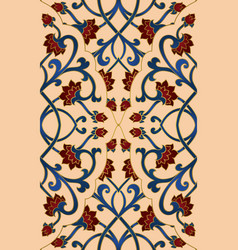 Beige floral pattern vector
