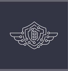 Bitcoin logo the concept of protection editable vector