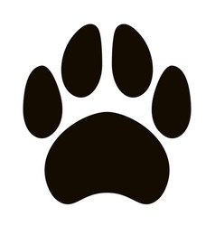 black silhouette dog footprint vector image