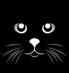 Black stencil abstract cat vector